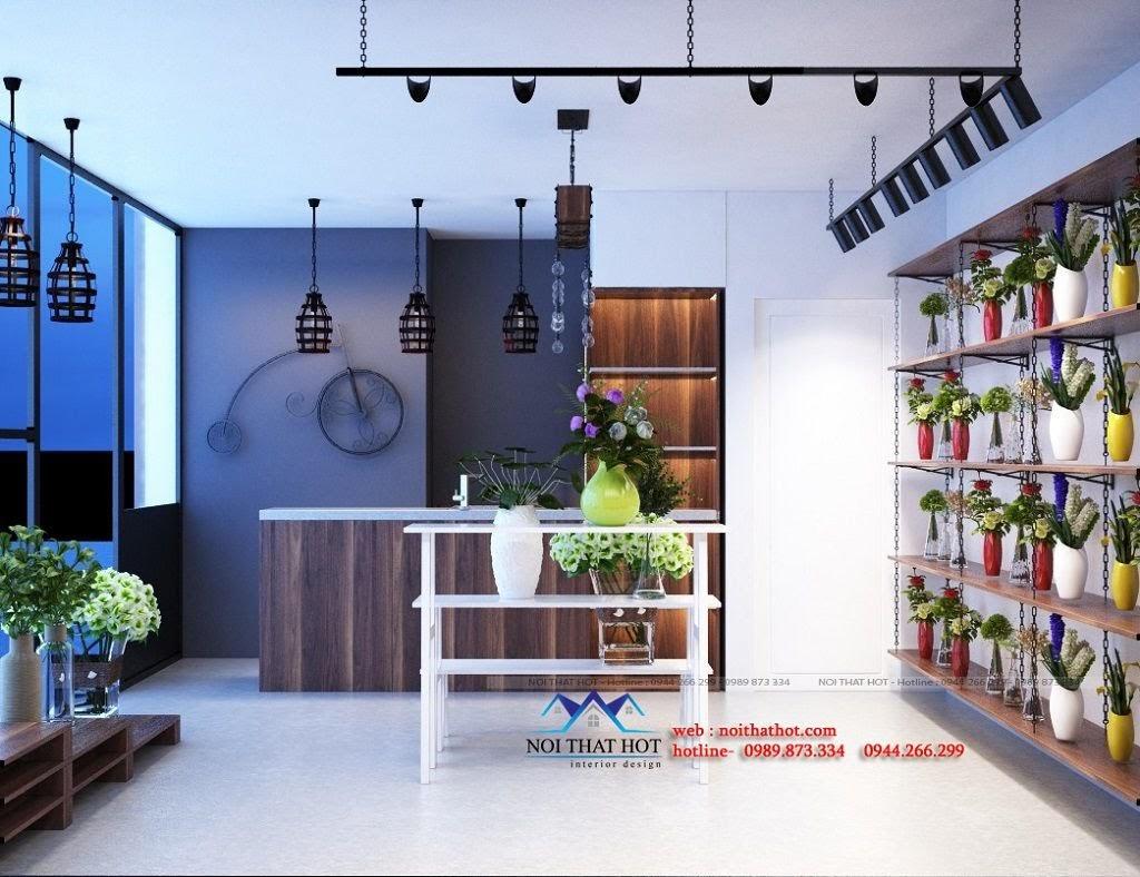thiết kế shop hoa tươi độc đáo
