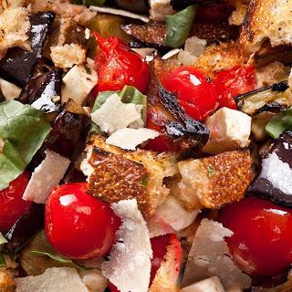 Grilled Eggplant Parmesan Salad