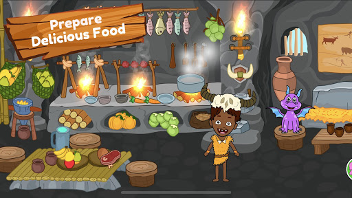 My Dinosaur Town - Jurassic Caveman Games for Kids 3.1 Screenshots 13