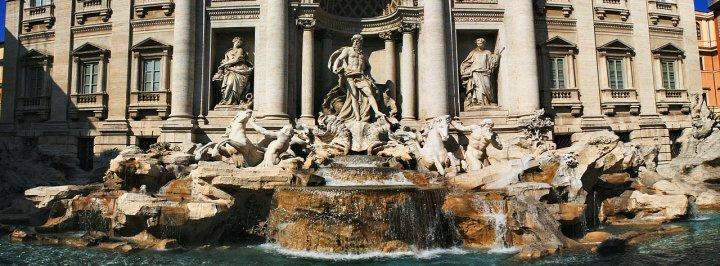 Fontana di Trevi, unione di due foto di marco.damil