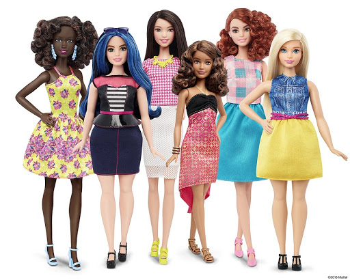 New Barbie doll body shapes of petite, tall and curvy are seen next to the traditional Barbie. Picture: REUTERS