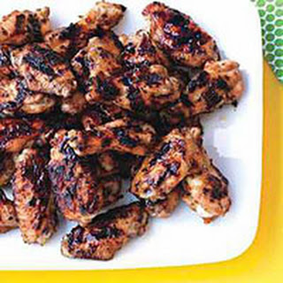 Chicken Wings with Jala-Peach Sauce.