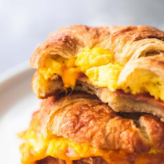 Baked Croissant Breakfast Sandwiches Recipe