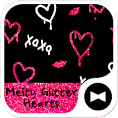 Melty Glitter Hearts  Theme