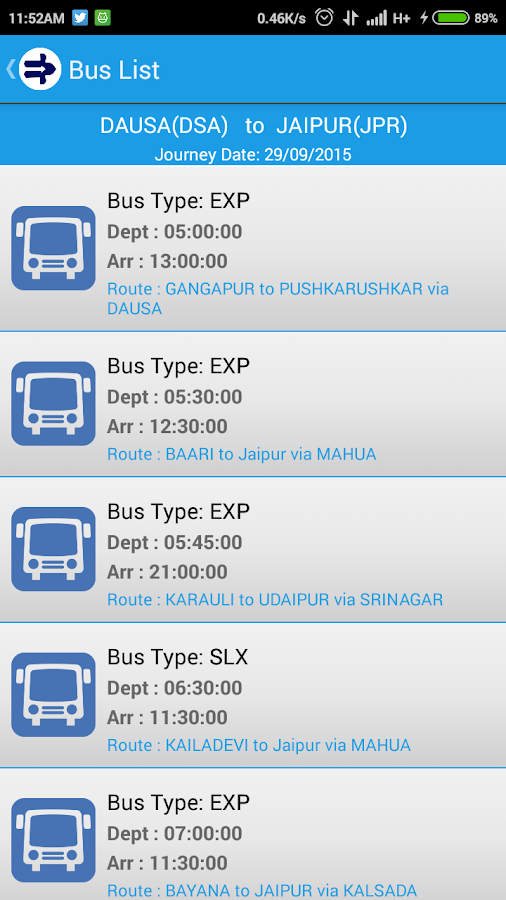 RSRTC Bus Ticket Booking- screenshot