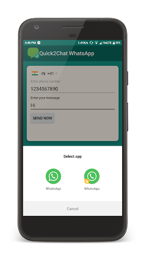 Quick2Chat - Chat with Unsaved Contact on WhatsApp screenshot 3