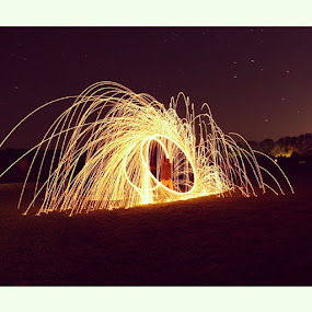 by Jermaine Pollard - Instagram & Mobile Android ( fire, sparks, slowshutter, Canon )