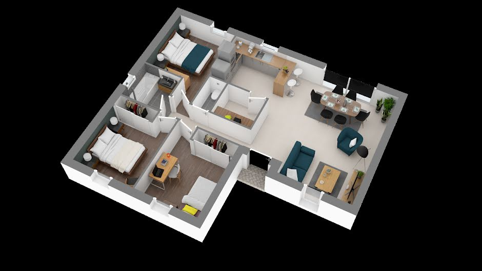 Vente maison 4 pièces 76 m² à Ambillou (37340), 141 242 €