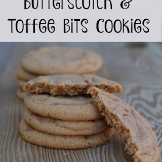 Butterscotch Cookies with Toffee Bits