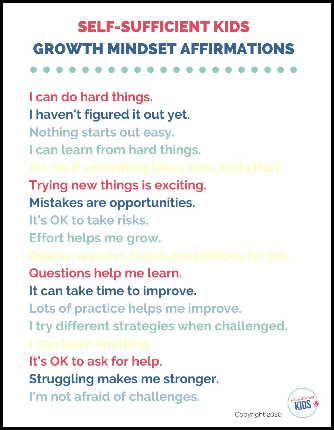 growth mindset affirmations