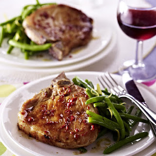 Asian-Style Pork Chops with Green Beans.