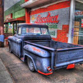 Barrio Cafe Truck by Stephen Botel - Transportation Automobiles ( lowrider, hdr, truck, cityscape, chevy )