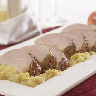 Tomatillo Pork Tenderloin with Apples.