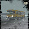 Bus Driving Snowy Mountains icon