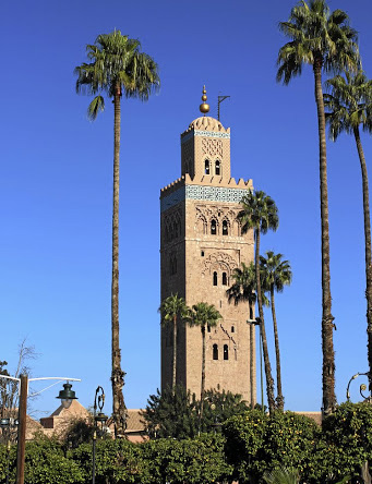 The minaret of Koutoubia Mosque