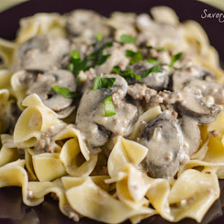 Easy Ground Beef Stroganoff.
