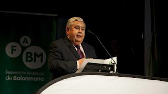 Antonio Rosales presidente de la Federación Andaluza de Balonmano.