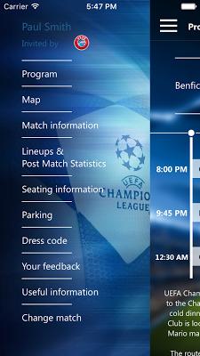Champions League Hospitality - screenshot