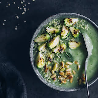 Brussel Sprouts Soup for a Gentle Ayurvedic Detox.