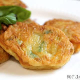 Zucchini Flower Pancakes (Fritters).