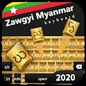 Zawgyi myanmar Keyboard golden icon