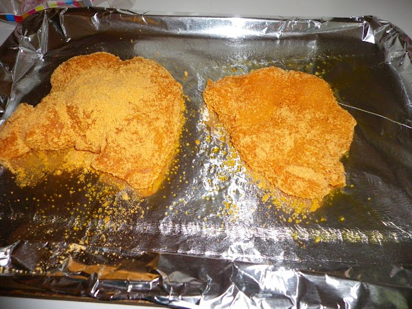 shake and bake chicken breasts, acording to the shake and bake directions.