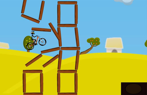 上坡特技自行车