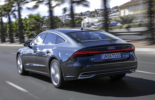 The lift back design remains and the A7 gets some truck rear lighting.   Picture: AUDI