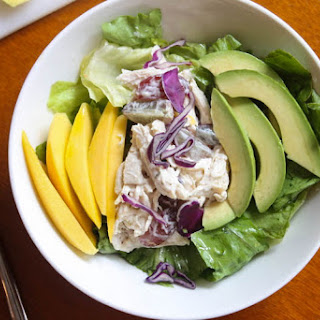 Avocado and Mango Chicken Salad.