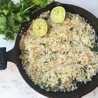 Cilantro & Lime Cauliflower Rice.