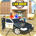Police Car Parking - Smart Gas Guzzler Wash icon