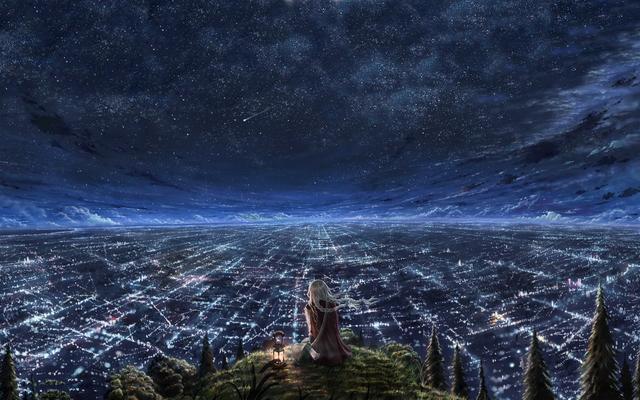 Desktop Wallpaper Anime Landscape Painting Ni
