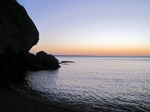 Photo: Sunset from our first night's campsite on Danzante Island