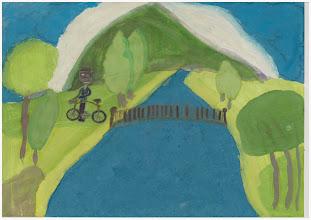 """Photo: praca Patrycji""""Jeździmy rowerem, bo to jest zdrowe i fajne"""""""