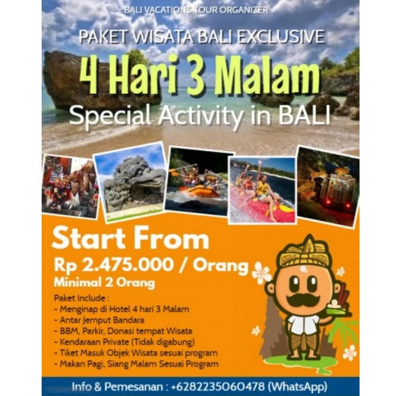 Bali Vacations Tour Organizer Biro Perjalanan Dan Wisata