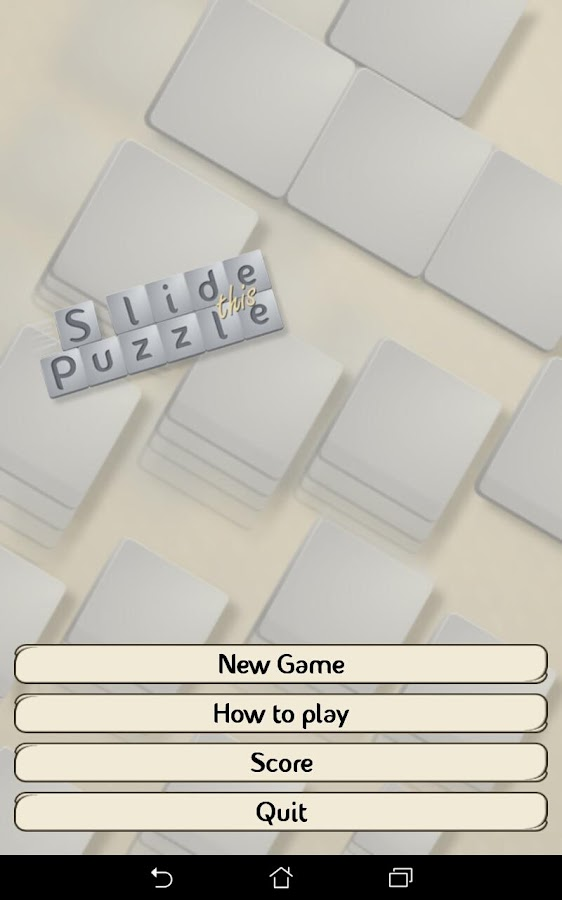 Slide This Puzzle FREE- screenshot