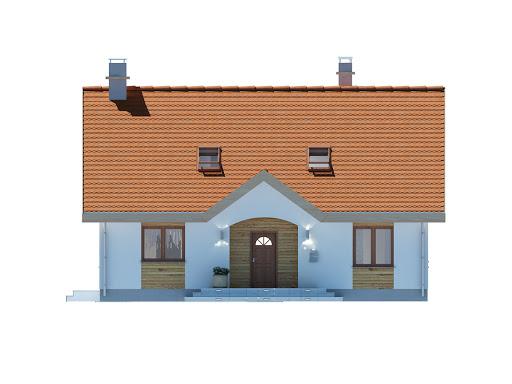Groszek dach dwuspadowy - Elewacja przednia