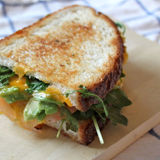 Scrambled Egg and Avocado Grilled Cheese