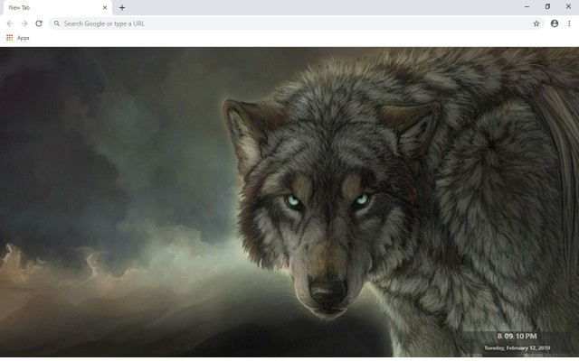 Wolf New Tab & Wallpapers Collection