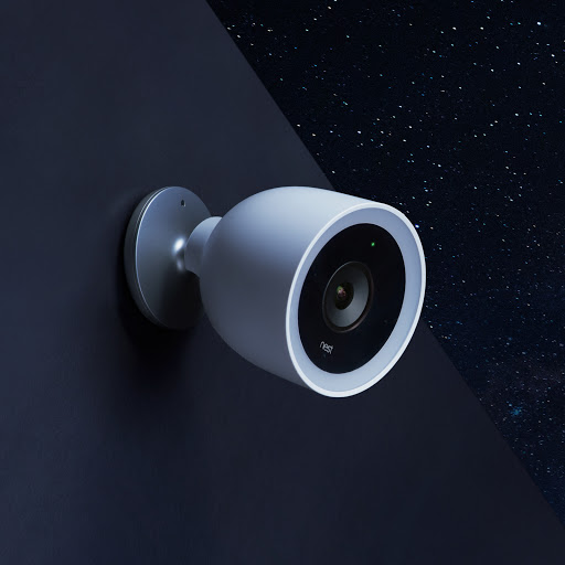 Nest Cam IQ Outdoor at night with Talk and Listen speaker and mic