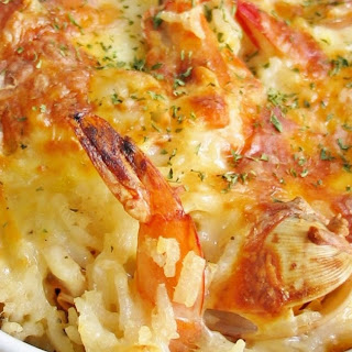 Seafood Baked Rice.