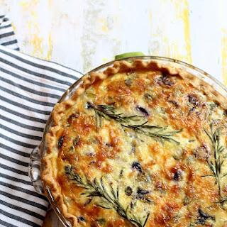 Asparagus, Leek And Purple Carrot Quiche