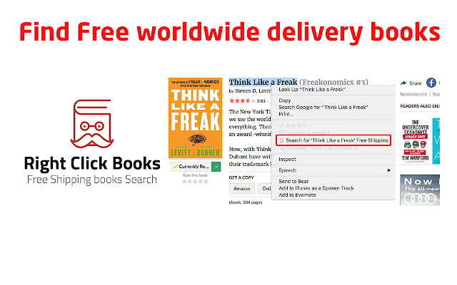 Right Click Book Search With Free Shipping