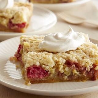 Five-Ingredient Rhubarb Squares Recipe
