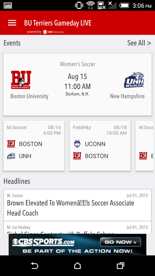 BU Terriers Gameday LIVE- screenshot