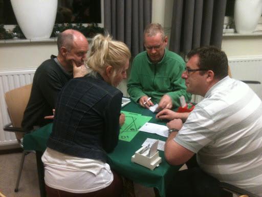 Ruit 1: Peter, Elsbeth, Louis en Jeroen