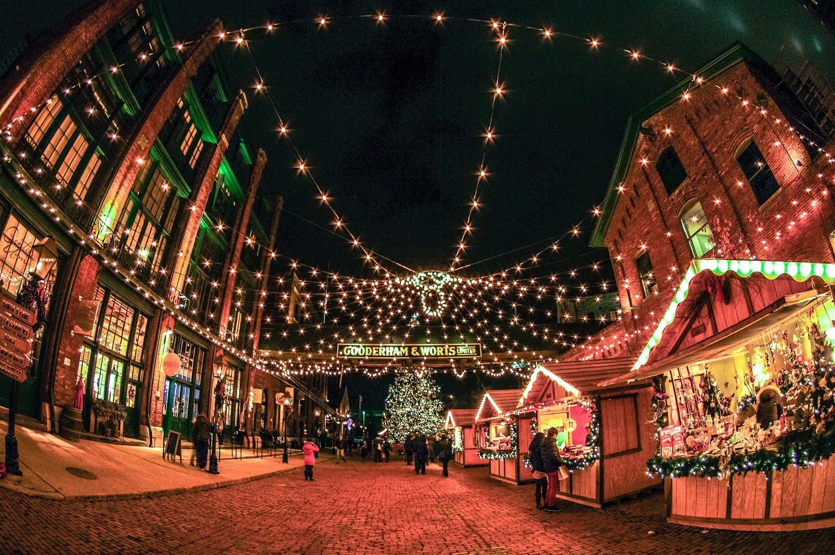 Christmas distillery district