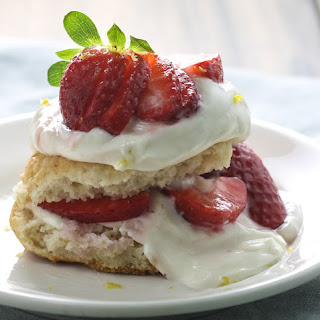 Gluten Free Strawberry Shortcake with Lemon Curd Cream.