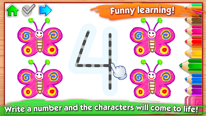 123 Draw🎨 Toddler counting for kids Drawing games Screenshot