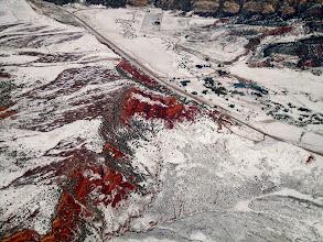 Photo: Very red cliffs